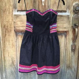 H&M Strapless black dress